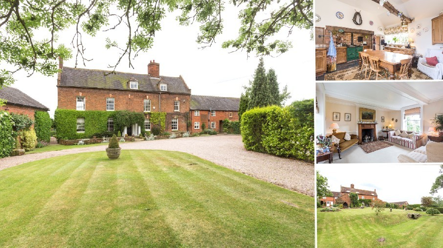 AN IMPRESSIVE GRADE II LISTED CHARACTER FARMHOUSE NEW TO THE MARKET