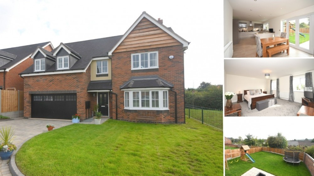 **NEW TO MARKET** A modern executive detached home with a rural outlook on a prestigous development in Yoxall