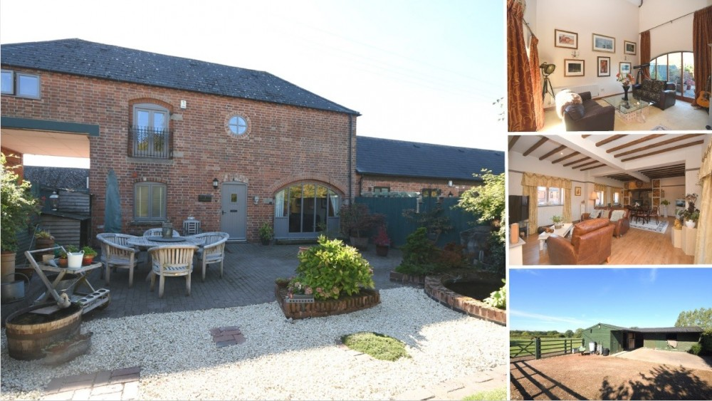 **NEW INSTRUCTION** A stunning barn conversion with stables and 4.3 Acres