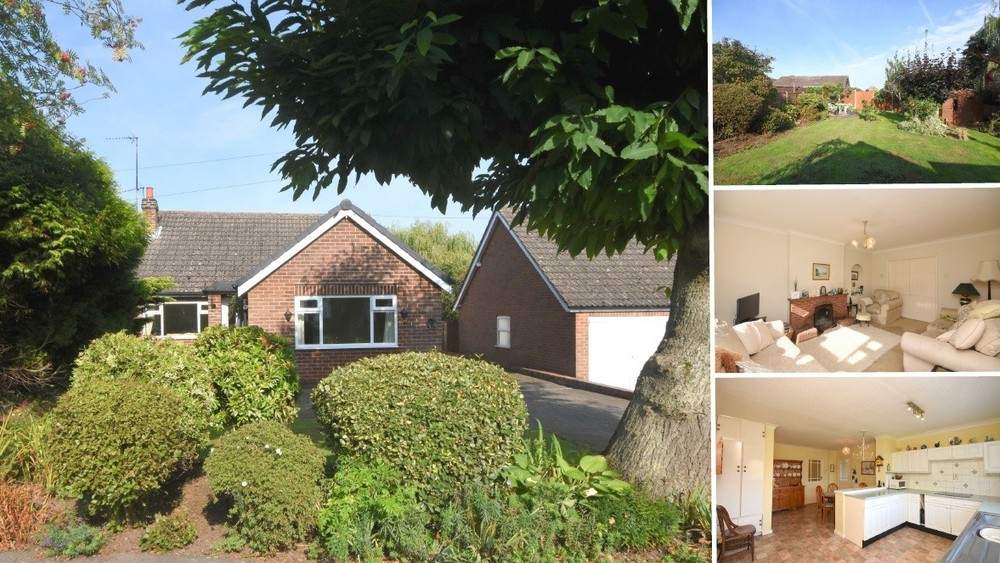 **PRICE REVISED** A detached bungalow with countryside and church views in the rural setting of Clifton Campville