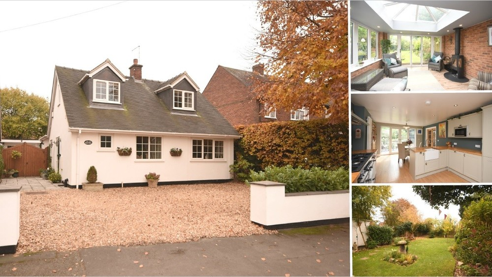 A fully renovated and extended detached dormer bungalow with south facing gardens