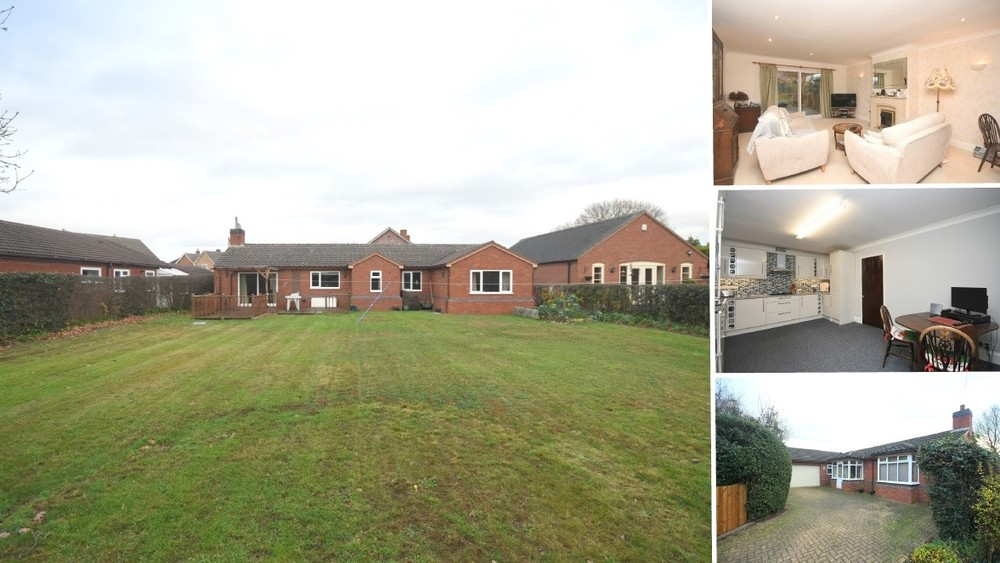 A deceptively spacious detached bungalow with an excellent plot and plenty of scope and flexibility!