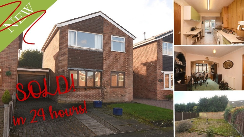 SOLD in 24 HOURS! A link detached home with plenty of potential in Barton under Needwood