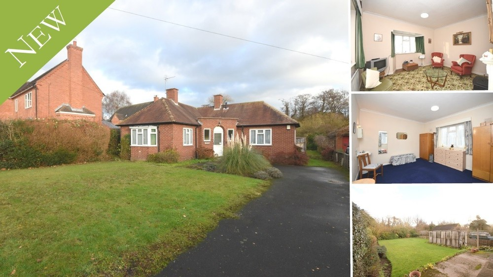 NEW to the Market - A traditional detached bungalow in Yoxall offered with No Upward Chain