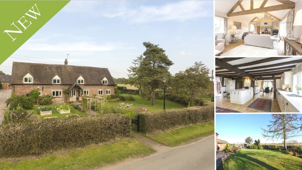 **NEW** A traditional Staffordshire Farmhouse set on the outskirts of Alrewas, showcasing a wealth of immaculate accommodation and a one acre paddock.