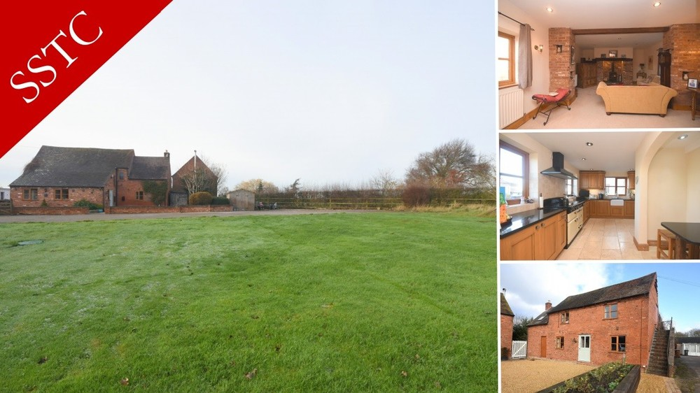 **SSTC** A beautiful detached barn conversion with extensive gardens and an idyllic location