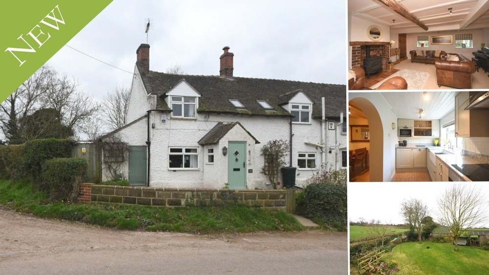 New to the Market - character features, stunning gardens and farmland views close to Sandon Hall
