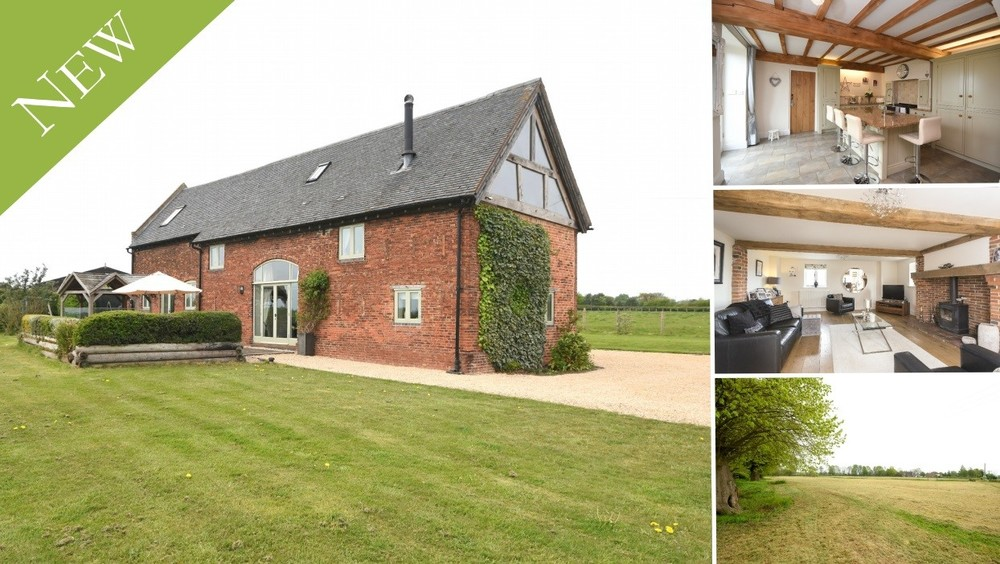 New to the Market - A beautiful and individual detached barn conversion set within the idyllic hamlet of Wychnor... including a 4.3 acre paddock!