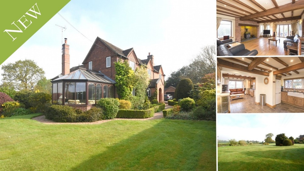 A picturesque location, plenty of space and stunning views in a most convenient spot just outside the rural village of Abbots Bromley