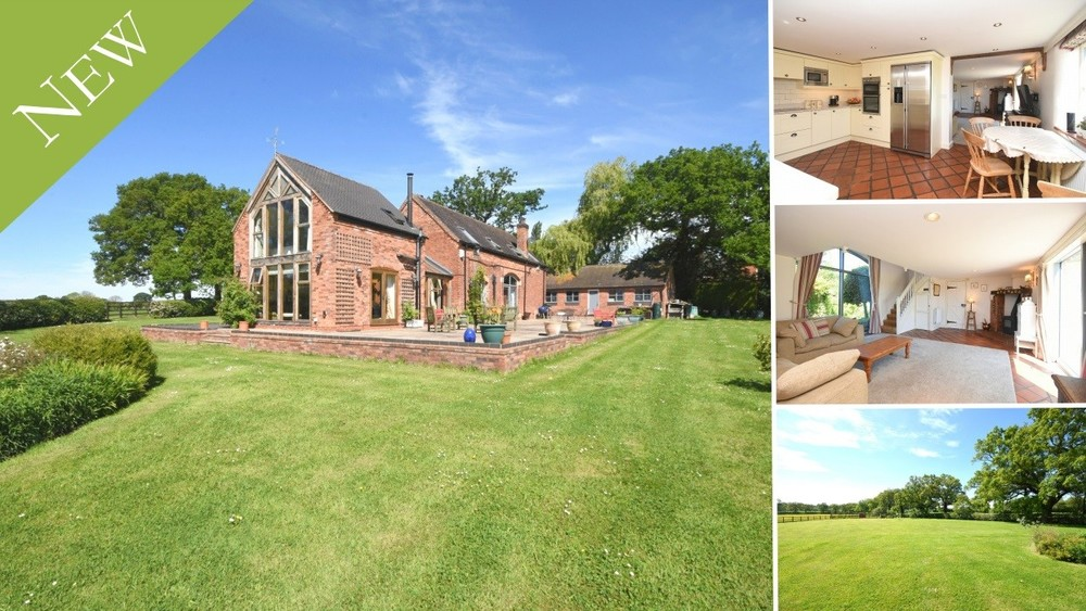 A stunning detached barn conversion in an idyllic location with panoramic views