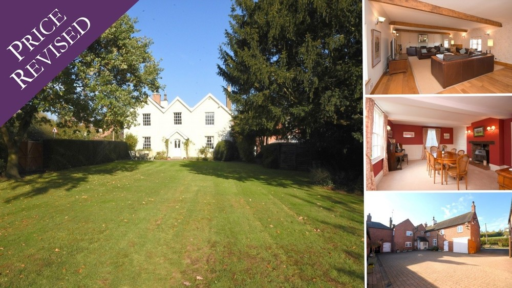 New Price! on this elegant family home in Tatenhill bursting with character, space and grounds