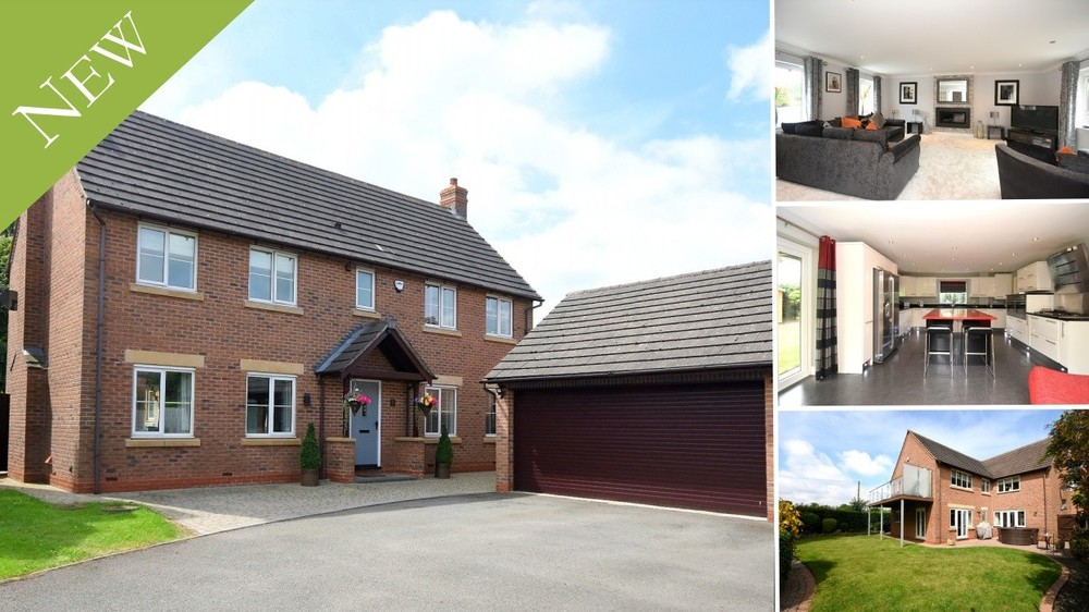 Immaculate & spacious interiors, a high spec finish and rural views in Hill Ridware
