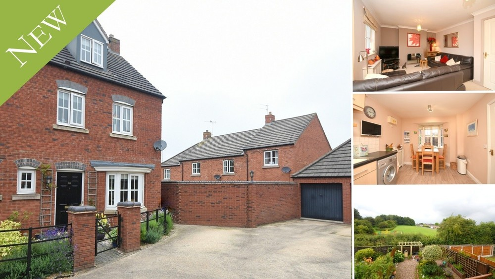 **NEW INSTRUCTION** A modern semi detached townhouse with a pleasant open aspect to the rear