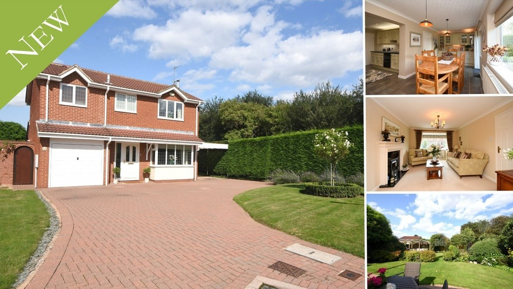 A superb executive detached family home set beside a picturesque Nature Reserve in Stretton