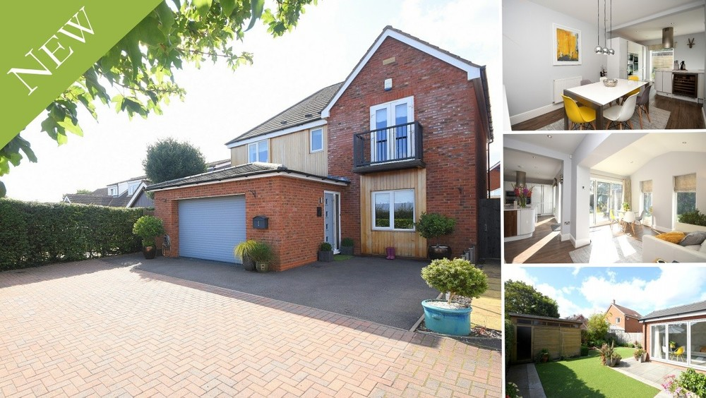 **New to the Market** Contemporary interiors, four double bedrooms and a pleasant rural outlook
