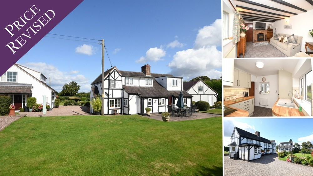 *New Price* on this individual cottage with detached annexe and double garage, all set within a most stunning garden plot