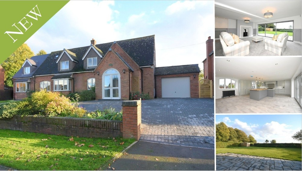A fully renovated detached home boasting a stunning open plan kitchen, five bedrooms and open views