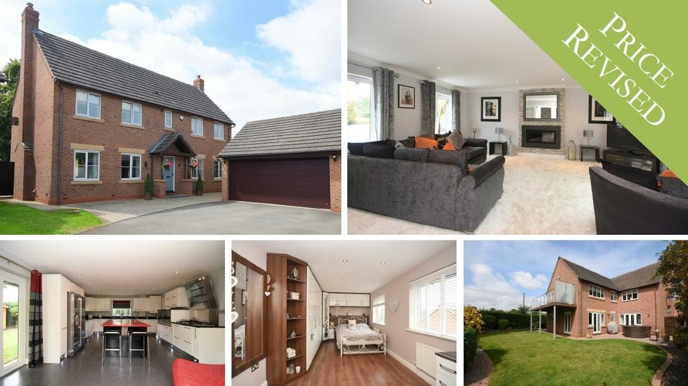 PRICE REVISED on this STUNNING family home with five bedrooms and a balcony overlooking open countryside