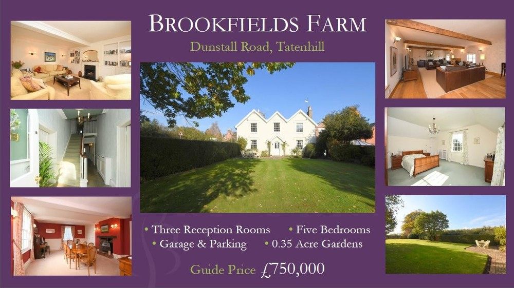 Georgian elegance, stunning gardens and John Taylor Catchment... Our Star Property for the day is Brookfields Farm!