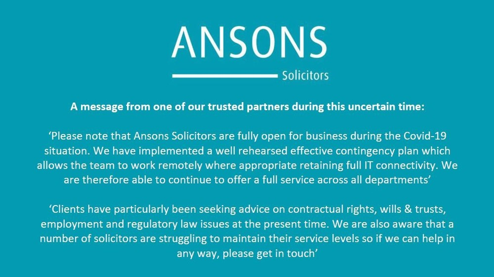 A message from one of our trusted solicitors