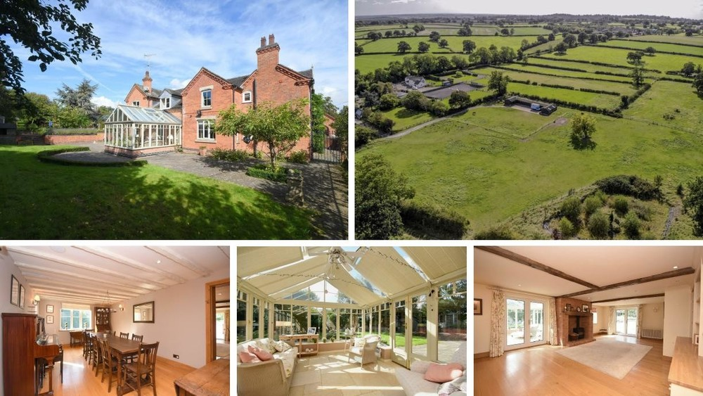 *Star Property Alert* The stunning Bell House Farm offers a spacious family home and 4 acres and stables